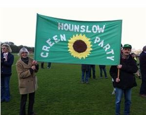 Hounslow Green Party at the Heathow demo