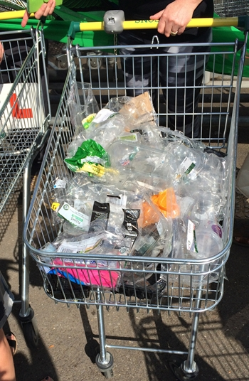Plastic in trolley